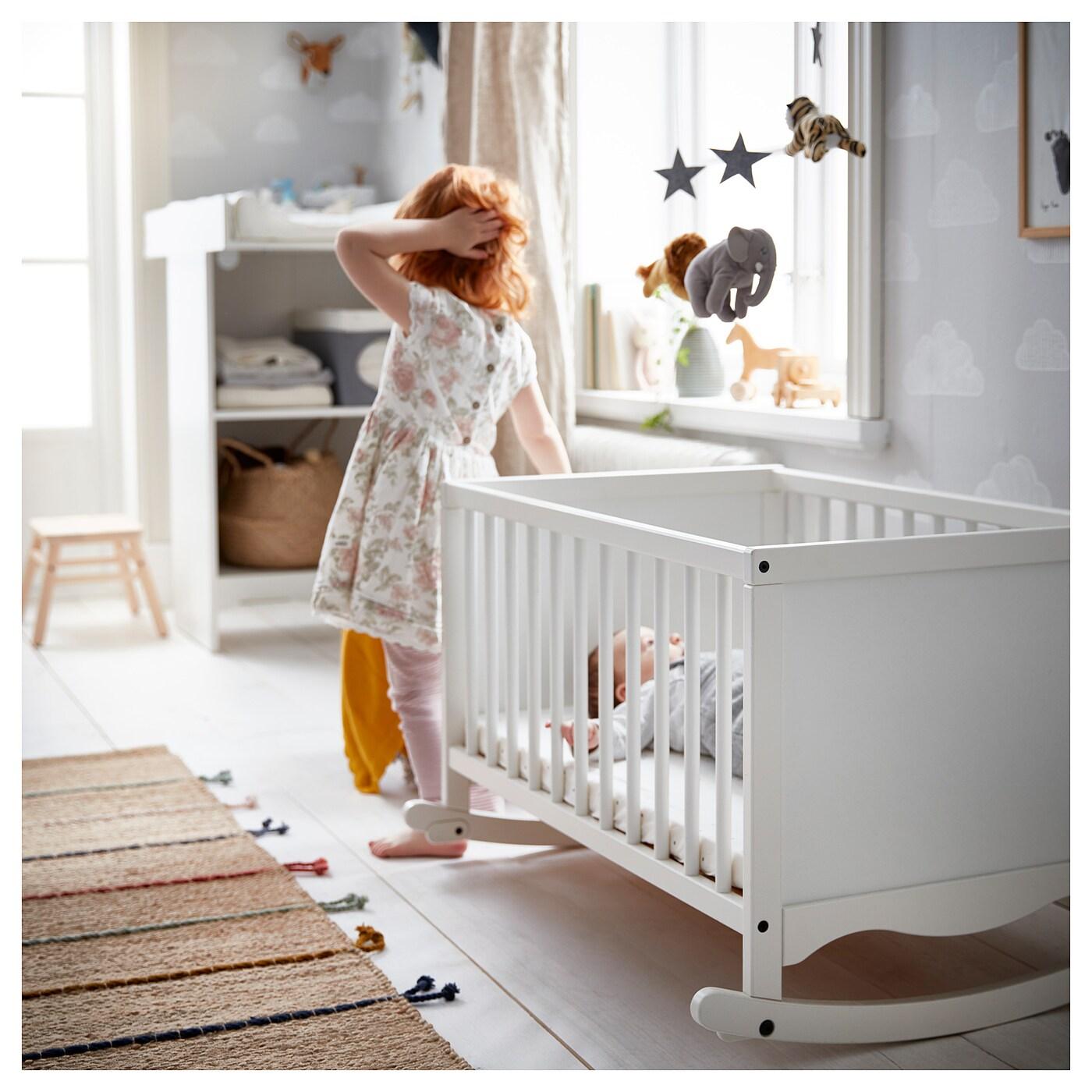 SOLGUL Berceau av matelas en mousse, blanc, 66x84 cm IKEA