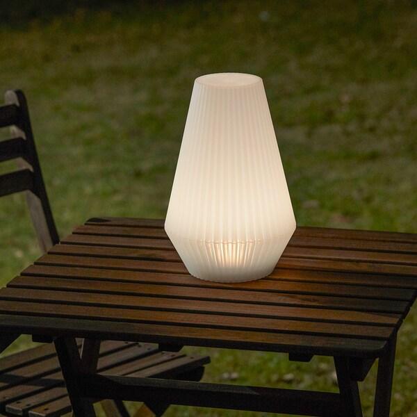 SOLVINDEN lampadaire à énergie solaire à LED extérieur/plastique blanc 20 cm 30 cm