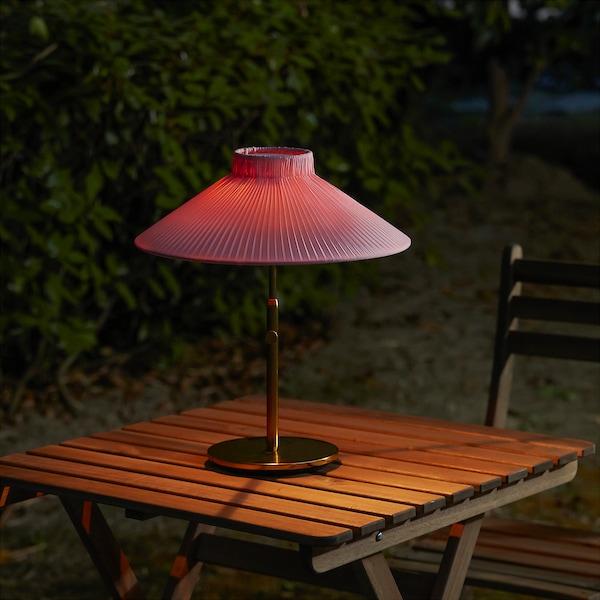 SOLVINDEN lampe table énerg sol à LED extérieur rose 8 lm 40 cm 35 cm 12 cm 1 pièces