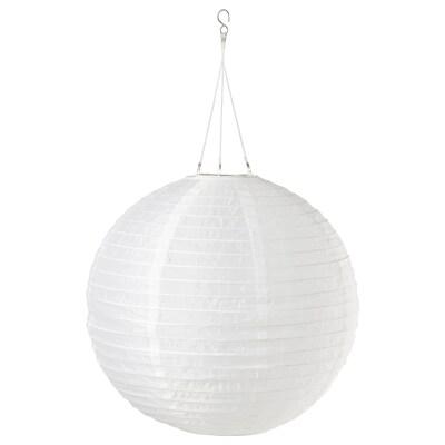 SOLVINDEN Suspension à énergie solaire à LED, extérieur/globe blanc, 45 cm