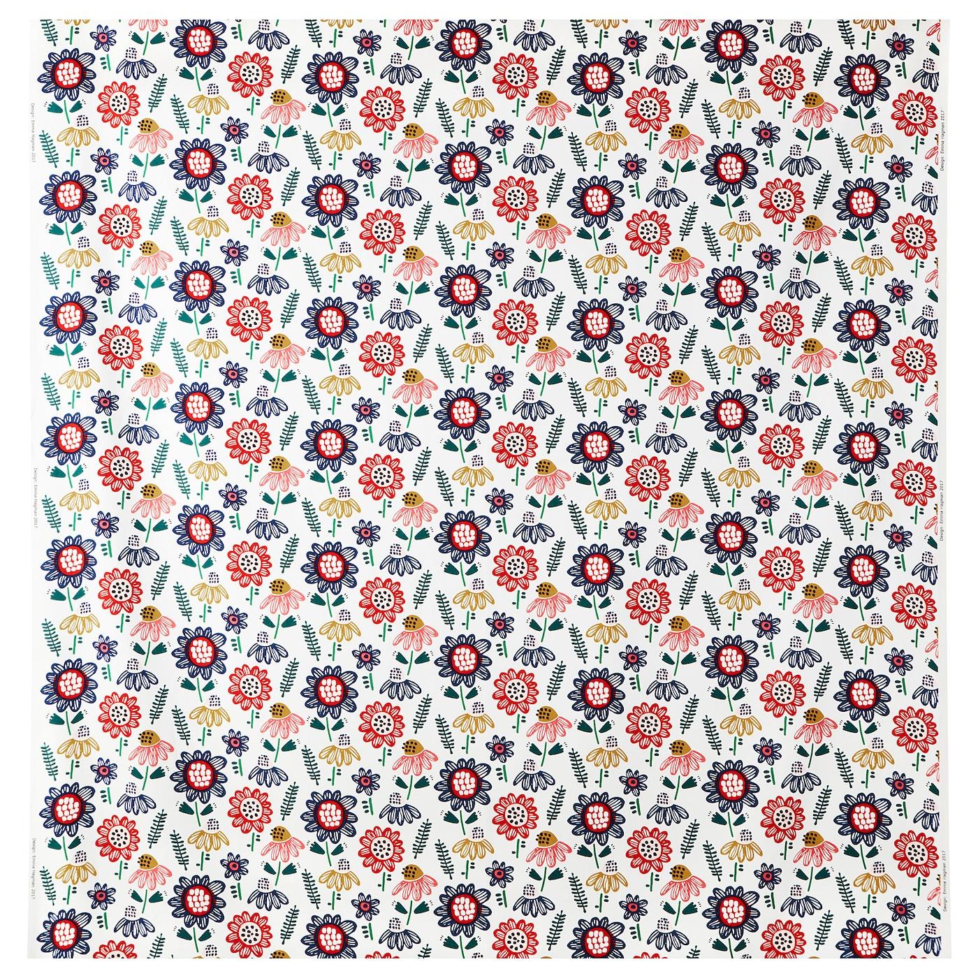 *New* IRMELIN  Fabric White//multicolour 150 cm x 1 meter *Brand IKEA*