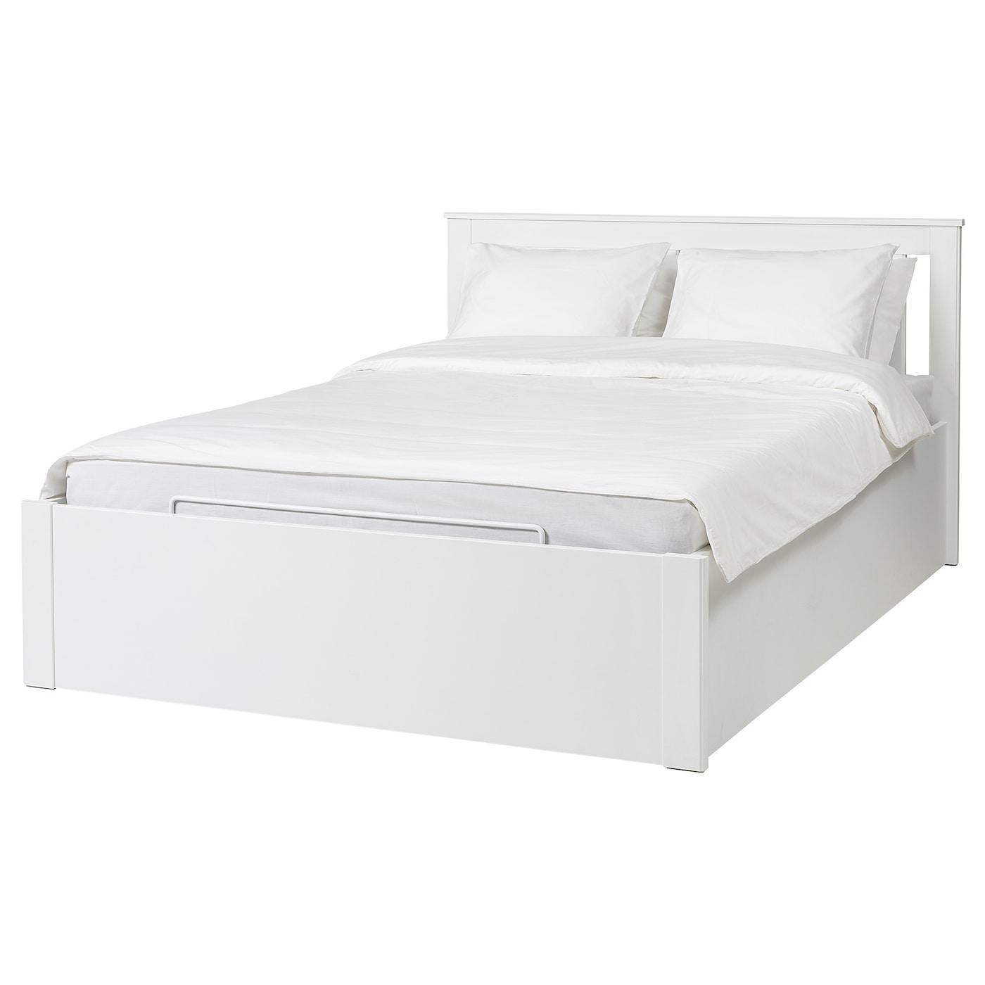 SONGESAND Cadre lit coffre - blanc - IKEA