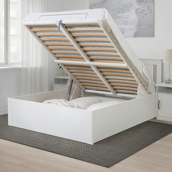 Songesand Cadre Lit Coffre Blanc 160x200 Cm Ikea