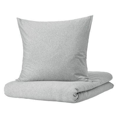 SPJUTVIAL Housse de couette et 2 taies, gris clair/mélange, 240x220/65x65 cm