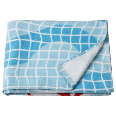 SPORTSLIG Drap de bain, motif piscine, 70x140 cm