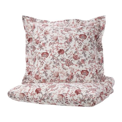 spr ng rt housse de couette et taie 150x200 65x65 cm ikea. Black Bedroom Furniture Sets. Home Design Ideas