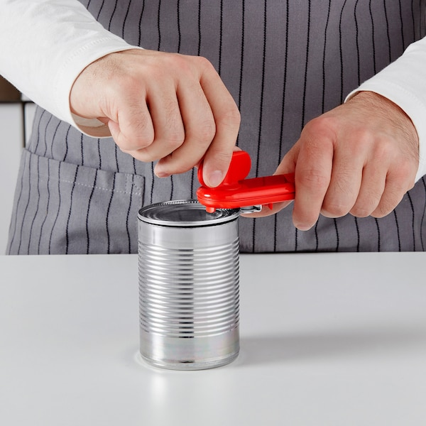 STÄM Ouvre-boîtes, rouge/blanc/noir