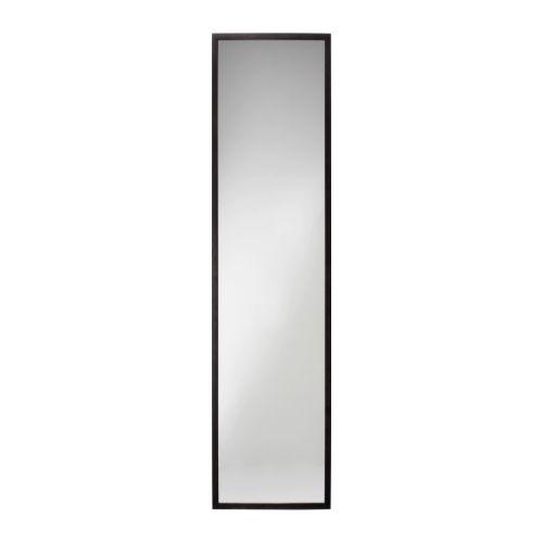 Stave miroir brun noir 40x160 cm ikea for Miroir ikea stave