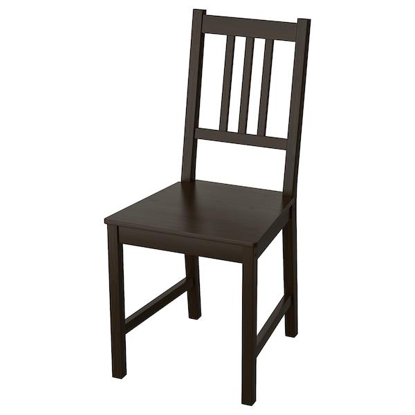 STEFAN chaise brun noir 110 kg 42 cm 49 cm 90 cm 36 cm 39 cm 45 cm