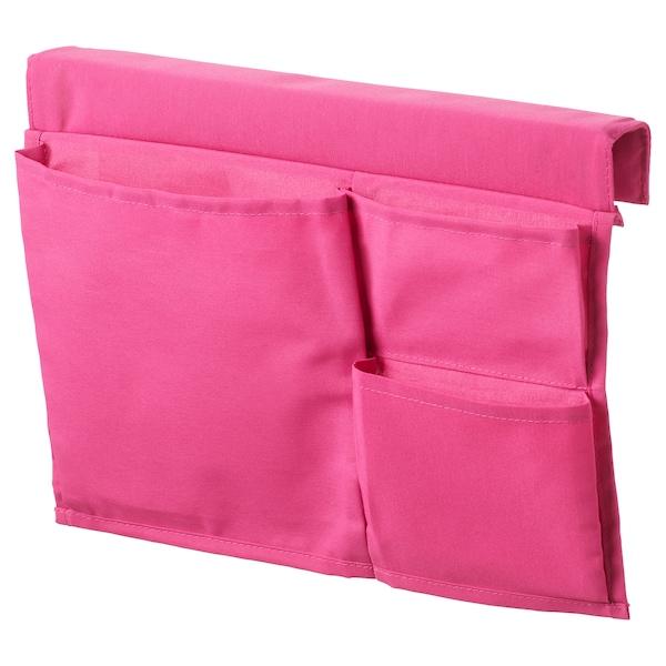 STICKAT Poche rangement pour lit, rose, 39x30 cm