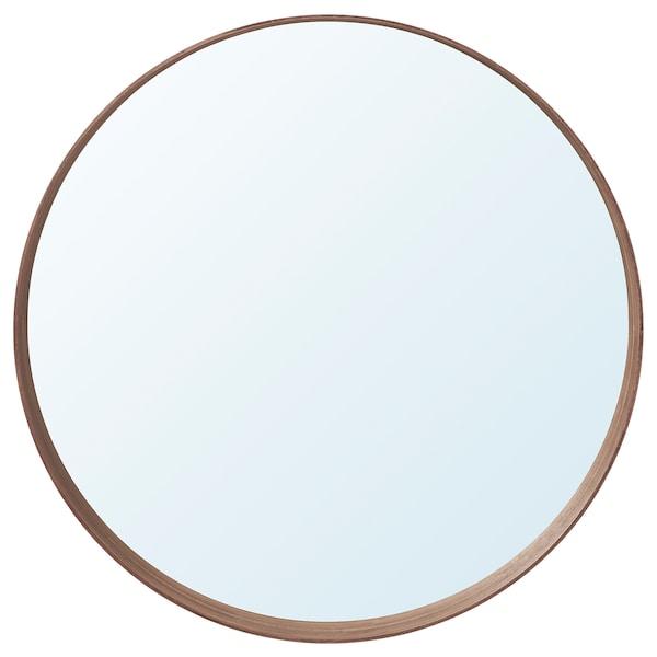 STOCKHOLM Miroir, plaqué noyer, 80 cm