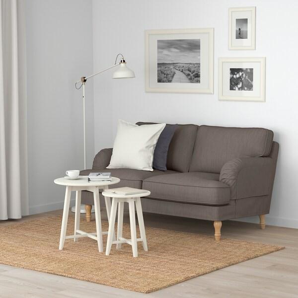STOCKSUND Canapé 2 places, Nolhaga gris-beige/brun clair/bois