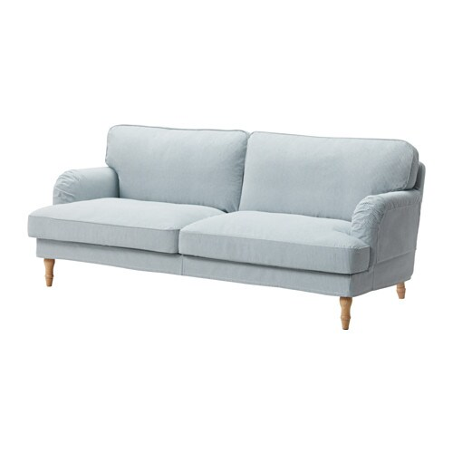Stocksund canap 3 places remvallen bleu blanc brun for Sofa 70 cm profundidad