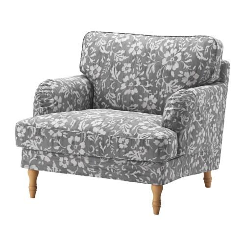Stocksund fauteuil hovsten gris blanc brun clair ikea - Fauteuil ikea gris ...