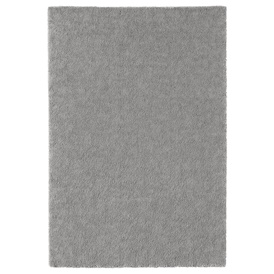 STOENSE tapis, poils ras gris moyen 195 cm 133 cm 18 mm 2.59 m² 2560 g/m² 1490 g/m² 15 mm