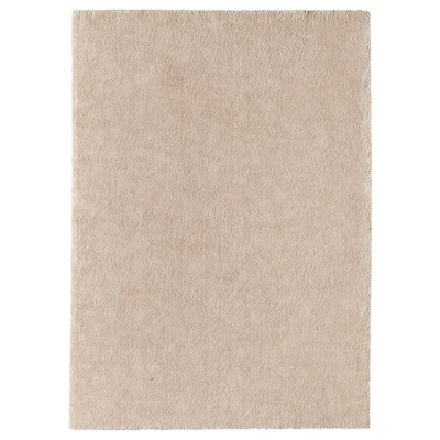STOENSE Tapis, poils ras, blanc cassé, 170x240 cm