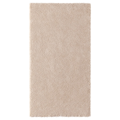 STOENSE Tapis, poils ras, blanc cassé, 80x150 cm