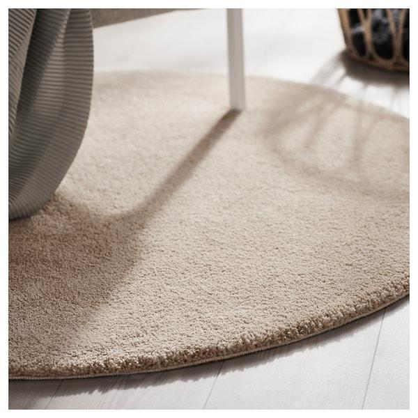 STOENSE Tapis, poils ras, blanc cassé, 130 cm