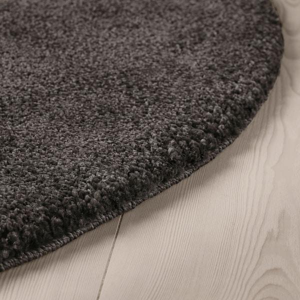 STOENSE Tapis, poils ras, gris foncé, 130 cm