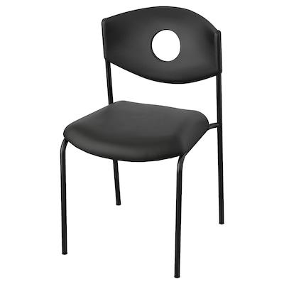 STOLJAN Chaise conférence, noir/noir