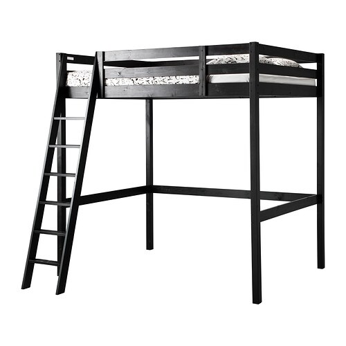 stor structure lit mezzanine noir ikea. Black Bedroom Furniture Sets. Home Design Ideas