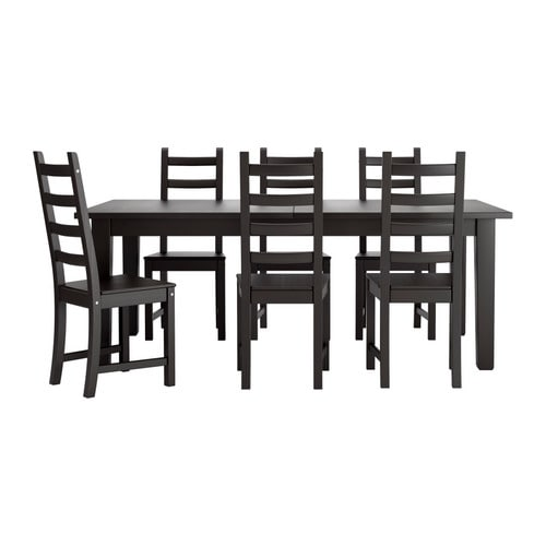 storn s kaustby table et 6 chaises ikea. Black Bedroom Furniture Sets. Home Design Ideas
