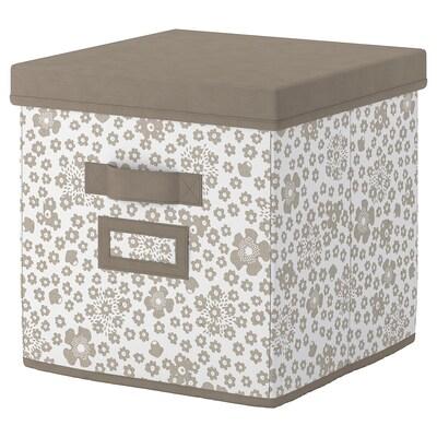 STORSTABBE Boîte couvercle, beige, 30x30x30 cm