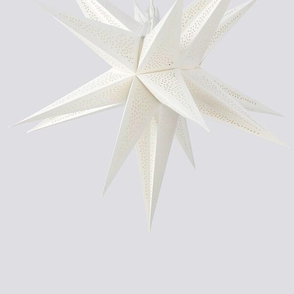STRÅLA Abat-jour, 3D/à pois blanc, 67 cm