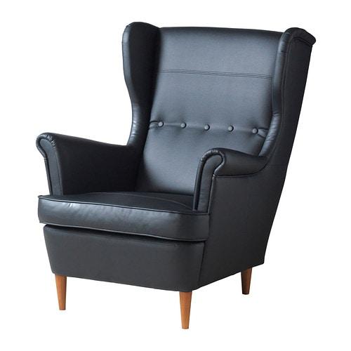 Strandmon fauteuil oreilles ikea - Fauteuil cuir noir ikea ...