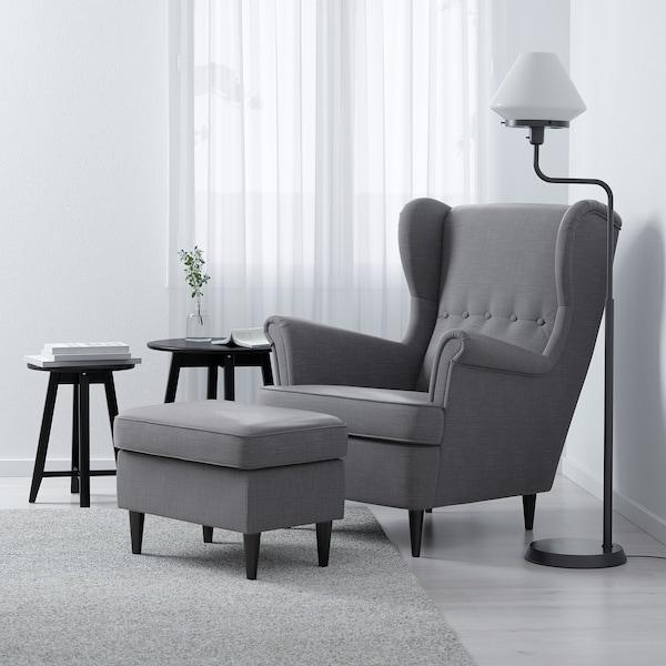 Strandmon Fauteuil A Oreilles Nordvalla Gris Fonce Ikea