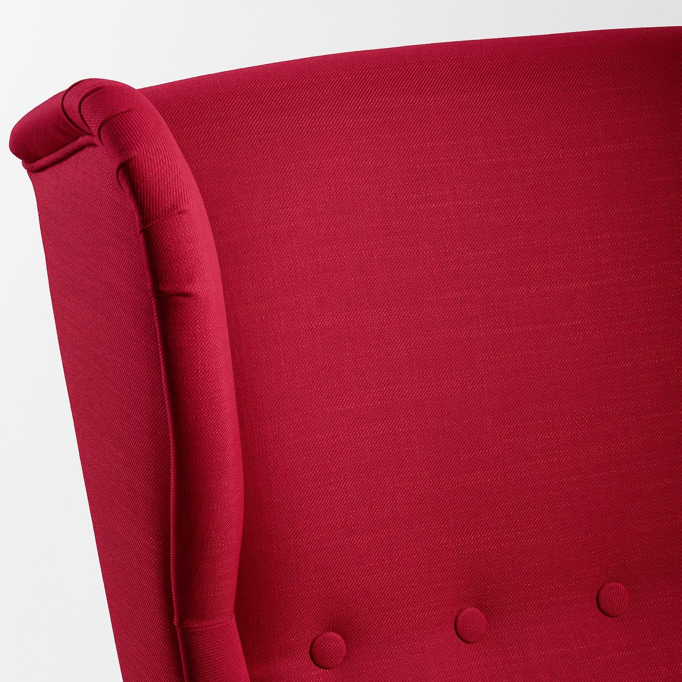 strandmon fauteuil a oreilles nordvalla rouge