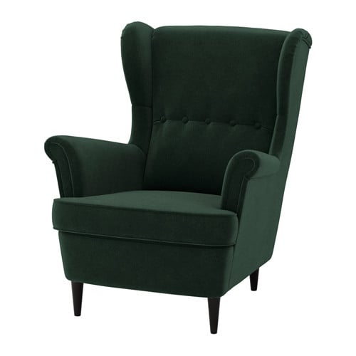 strandmon fauteuil oreilles djuparp vert fonc ikea. Black Bedroom Furniture Sets. Home Design Ideas