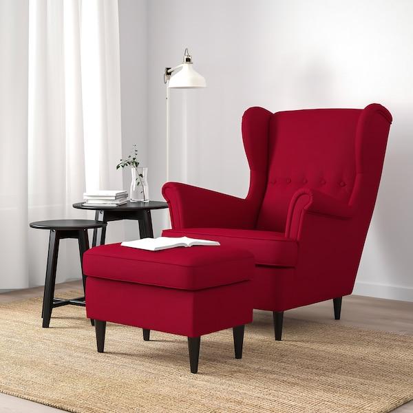 Strandmon Repose Pieds Nordvalla Rouge Ikea