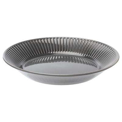 STRIMMIG Plat, faïence gris, 29 cm