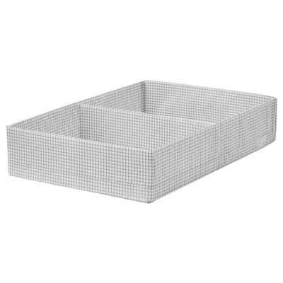 STUK boîte à compartiments blanc/gris 34 cm 51 cm 10 cm