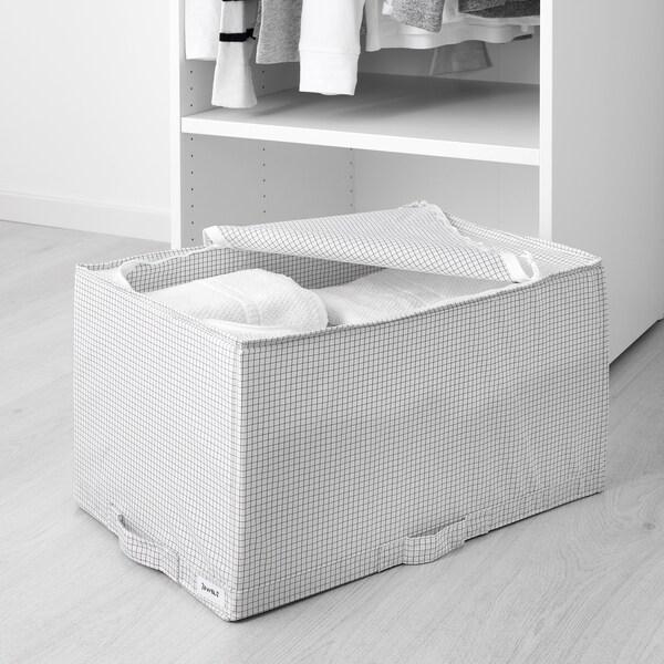 STUK Sac de rangement, blanc/gris, 34x51x28 cm