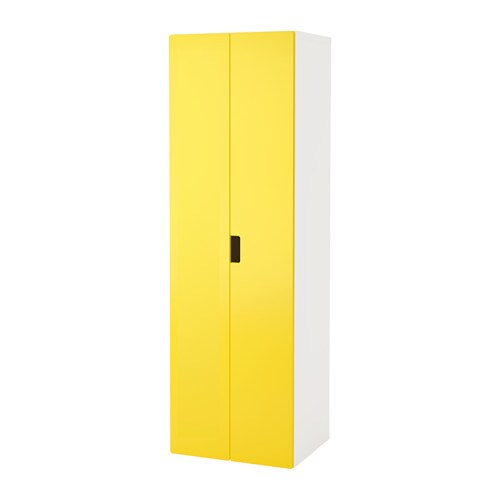 stuva armoire penderie blanc jaune ikea. Black Bedroom Furniture Sets. Home Design Ideas