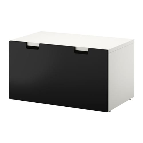 stuva banc avec rangement blanc noir ikea. Black Bedroom Furniture Sets. Home Design Ideas