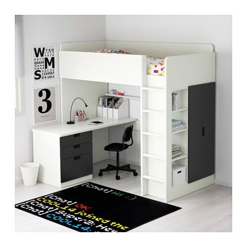 Assez STUVA Combi lit mezz+3 tir/2 ptes - blanc - IKEA QJ15