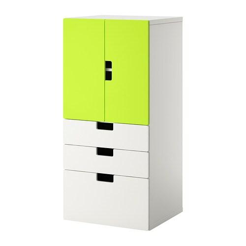 Stuva combi rgt portes tiroirs blanc vert ikea - Ikea tiroirs de rangement ...