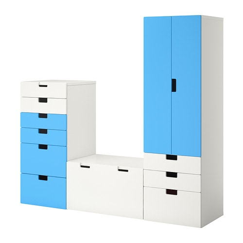 stuva combinaison de rangement blanc bleu ikea. Black Bedroom Furniture Sets. Home Design Ideas