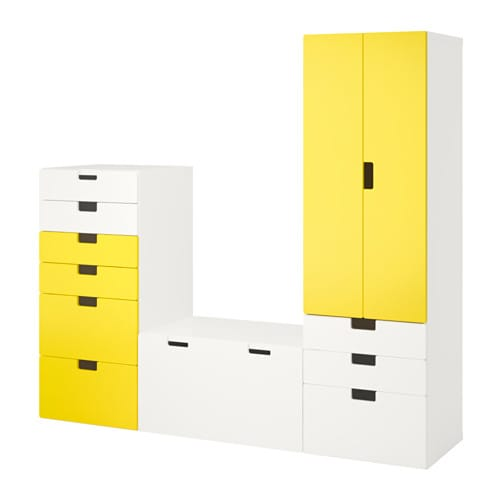 stuva combinaison de rangement blanc jaune ikea. Black Bedroom Furniture Sets. Home Design Ideas