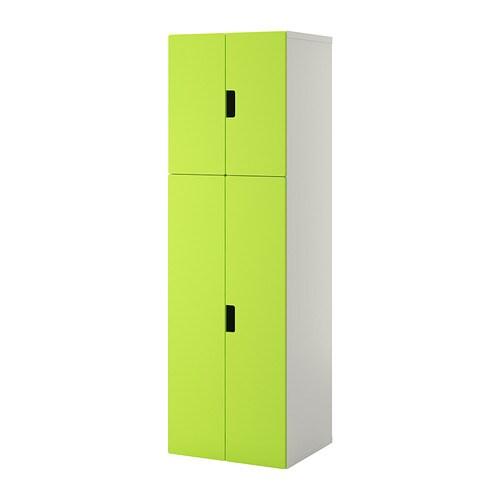 Stuva combinaison rangement portes blanc vert ikea - Ikea rangement vetement ...