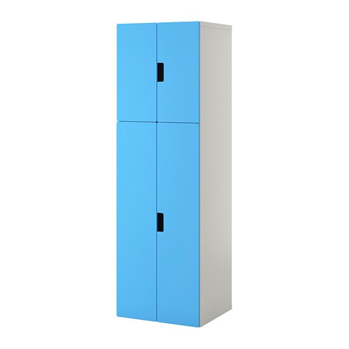 stuva combinaison rangement portes blanc bleu ikea. Black Bedroom Furniture Sets. Home Design Ideas