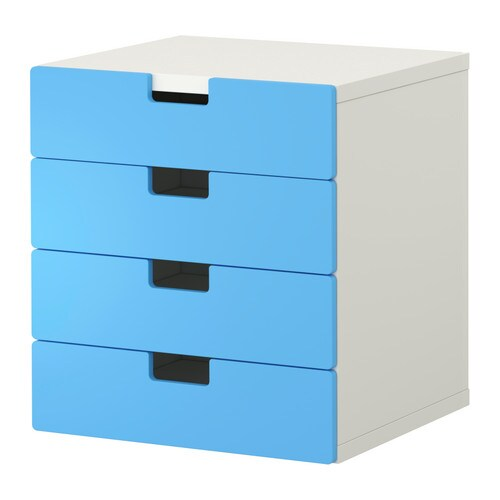 stuva combinaison rangement tiroirs blanc bleu ikea. Black Bedroom Furniture Sets. Home Design Ideas