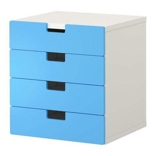 Stuva combinaison rangement tiroirs blanc bleu ikea - Rangement plastique tiroir ikea ...