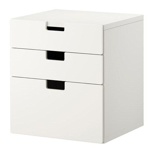 stuva commode 3 tiroirs blanc ikea. Black Bedroom Furniture Sets. Home Design Ideas