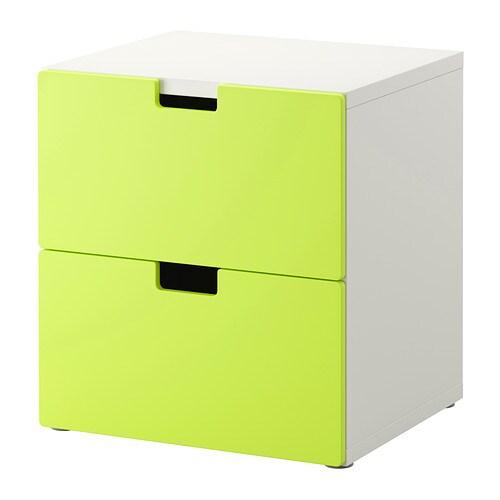 Stuva commode 2 tiroirs vert ikea - Ikea tiroirs de rangement ...
