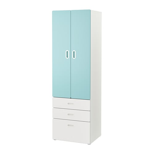 stuva fritids armoire blanc bleu clair ikea. Black Bedroom Furniture Sets. Home Design Ideas