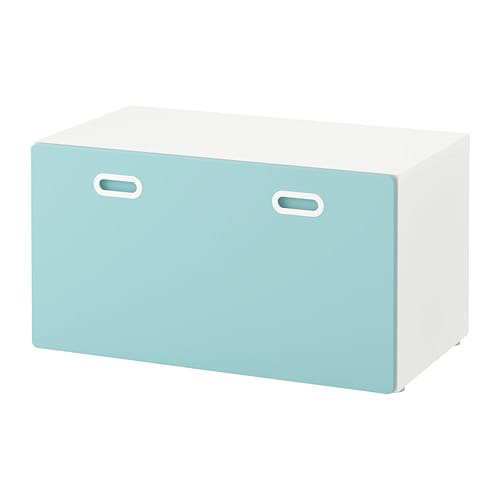 stuva fritids banc avec rangement jouets blanc bleu clair ikea. Black Bedroom Furniture Sets. Home Design Ideas